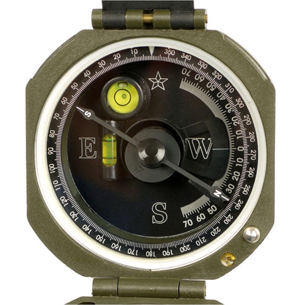 MFH US Kompaß M2 oliv Taschenkompass Ranger Kartenkompass Wasserwaage Camping