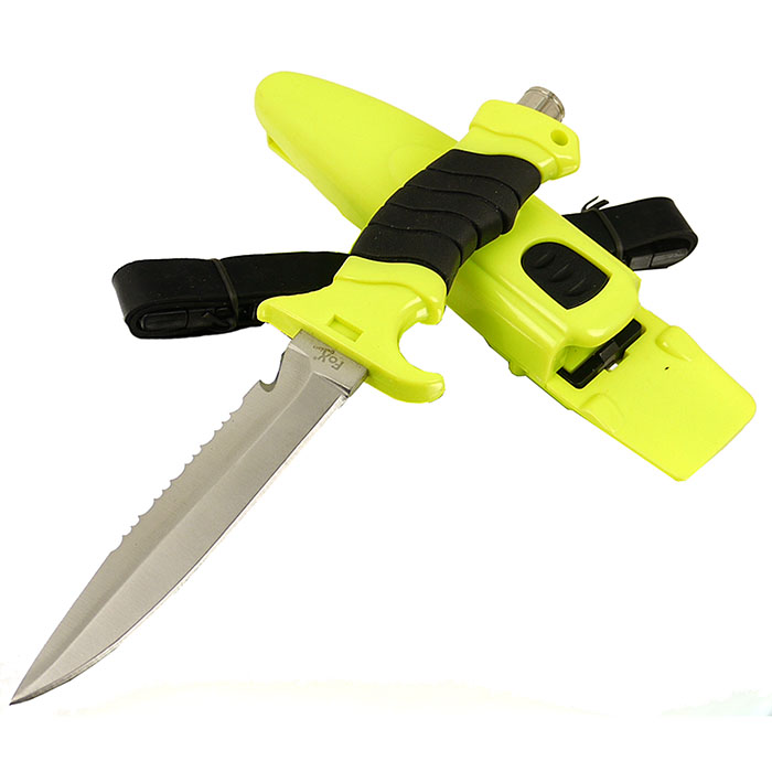 Mikov Diver Robustes Tauchermesser Beinholster aus Nylon Klingenlänge 145 mm