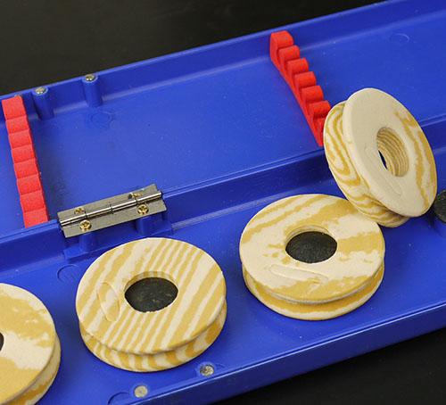 ZEBCO runde Vorfachbox  Vorfach Box Aufbewahrung 20 cm Aufwickler Neopren